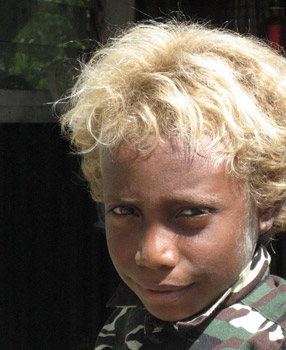 Blond Roots Pacific Islanders Golden Locks Mystery Is